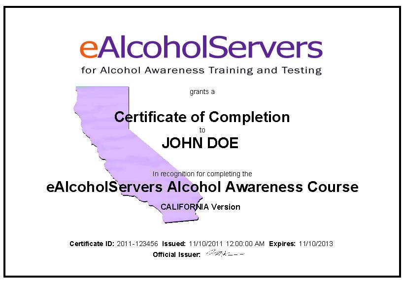 alcohol awareness training